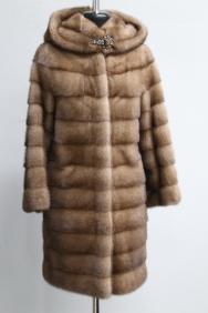 куртка, модель 67, норка не крашеная, цвет: пастель