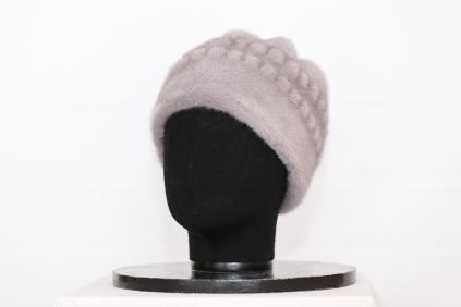 шапка, модель М 141, норка не крашеная, цвет Серебристо-голубой /Сильвер-блю/