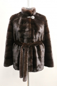 куртка, модель 14-2, норка не крашеная, цвет: блэк